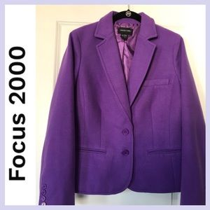 FOCUS 2000 Purple Blazer